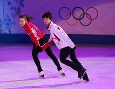 Adelina Sotnikova and Yuzuru Hanyu