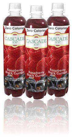 Cascade Ice - Raspberry Black Currant - Zero Calories Black Currants, Sparkling Ice, Salsa, Raspberry, Zero, Drinks, Food, Drinking, Beverages