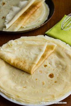 Rellena estas crepes caseras ¡con lo que quieras! http://cocinamuyfacil.com/como-hacer-crepes-receta/