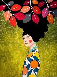"""to let myself go"" watercolour on paper) SOLD🍎 Art And Illustration, Graphic Design Illustration, Flowers Wallpaper, Poster Photo, Art Watercolor, Wow Art, Arte Pop, Gustav Klimt, Portrait Art"