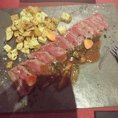 Beef Tataki   #tataki #beef #food #foodporn #japanese #japa #japanesefood by purple_enma
