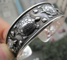 Check the way to make a special photo charms, and add it into your Pandora bracelets. Bracelets - Tibetan Tribe Jewelry Silver Turtle Cuff Bracelet Bangle