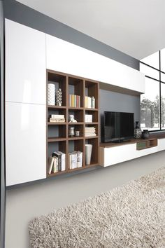 Cozy Living Room For Your Home - Living Room Design Living Room Wall Units, Home Living Room, Living Room Designs, Living Room Decor, Wall Cabinets Living Room, Tv Wall Design, House Design, Tv Wall Cabinets, Muebles Living