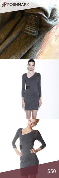 FACTORY by Erik Hart Sheer Paneled Dress Pre-owned Gray bodycon dress. Perfect condition FACTORY by Erik Hart Dresses