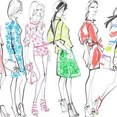 Jacqueline Bisset - Fashion illustrations