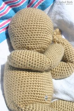 Crochet Weighted Baby Doll Birth Demonstration by CraftedBirth