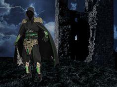 Wirkungsvolles Fantasy Kostüm mit EVA Kunstoff Teilen mit Knochen Illusion.