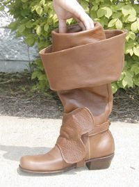 Costuming Terms Cup-top Boots (Cavalier): 17th century shoes that sport a cuff that has a cup on the cuff.