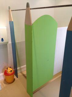 Nursery toilet cubicles pencil theme