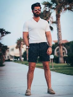Greece|My Top 3 Summer Looks|Kos – TOM SHEARD #menswear #fashion #reiss #asos #boohoo #boohooman #mensstyle #smart #greece #holiday #kos #summer #mensfashion #menshair #menshairstyles #men #style #shorts #beard #mensstyle #mensblogger #blogger Modern Outfits, Short Outfits, Summer Outfits, Skinny Suits, Black Leather Belt, Cotton Shorts, Summer Looks, Dance Wear, How To Look Pretty