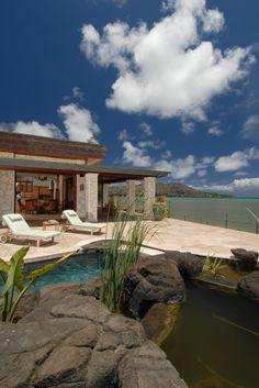 tropical exterior by Archipelago Hawaii, refined island designs