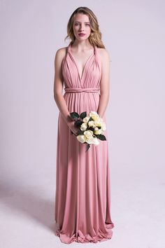 Classic Multiway Infinity Dress in Dusty Pink | Model Chic