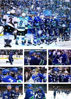 """One year ago today, one of the best goals in vancouver canucks history. Kevin Bieksa, from the stanchion, in double OT.  """"And the Vancouver Canucks are going to the stanley cup finals."""" #canwegobacktothis #canucks"""