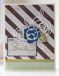 Die Cut Collage Smile Card   paper is love