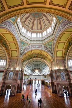 Interior of the Royal Exhibition Building, Nicholson Street, Carlton - a World Heritage-listed site, completed in Melbourne, Australia Melbourne Trip, Places In Melbourne, Melbourne Australia, Perth, Brisbane, Melbourne Victoria, Victoria Australia, Australia Living, Australia Travel