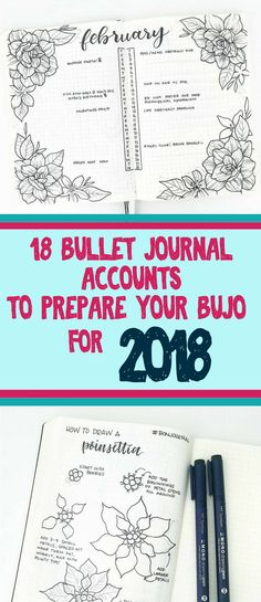 Bullet journal accounts that you NEED to follow if you're starting a bullet journal in 2018! They will help you learn how to start a bullet journal, create beautiful art, and perfect your bullet journal layouts.