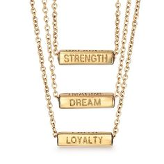 Get inspired with an accessory that evokes your personal inner truth. Goldtone necklace with a rectangular four sided pendant. Rotate the pendant to display one of four motivational words. Regularly $14.99, buy Avon Jewelry online at http://eseagren.avonrepresentative.com