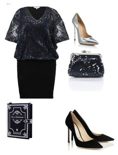 """New Year's Eve styling -o-plus size"" by joanna-brzegowy on Polyvore featuring moda i Casadei"