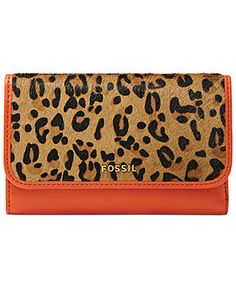 Fossil Handbag, Memoir Haircalf Flap Wallet