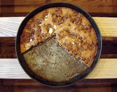 cinnamon almond cake- i would make w/o the choc chips