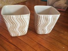Glidden Pottery Pair of 7 Wax Resist Squared Vases | eBay