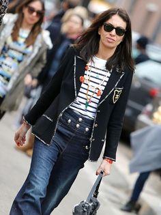 Chanel blazer... hells yeah. Vivs in Paris. #VivianaVolpicella