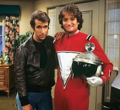Henry Winkler and Robin Willimas (Fonzie and Mork)