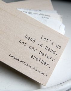 let's go hand in hand, not one before another.