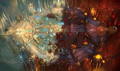 View an image titled 'Heaven vs Hell Map Art' in our Heroes of the Storm art gallery featuring official character designs, concept art, and promo pictures. Environment Concept Art, Environment Design, Storm Wallpaper, Wallpaper Art, Image Hero, Heroes Of The Storm, Environmental Art, Best Games, Art