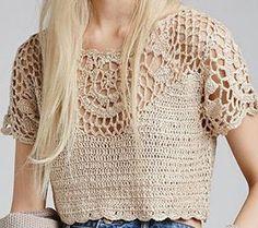 Fabulous Crochet a Little Black Crochet Dress Ideas. Georgeous Crochet a Little Black Crochet Dress Ideas. Crochet Shirt, Crochet Crop Top, Crochet Motif, Crochet Designs, Crochet Lace, Crochet Bikini, Crochet Patterns, Crochet Tops, Crochet Bodycon Dresses