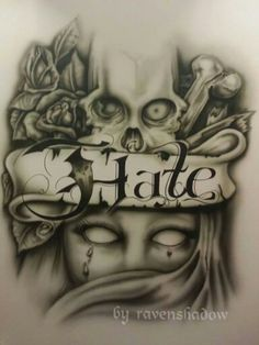 My skull would look more realistic. Tattoo Design Drawings, Skull Tattoo Design, Tattoo Sketches, Tattoo Designs, Evil Tattoos, Skull Tattoos, Body Art Tattoos, Chicano Drawings, Chicano Art