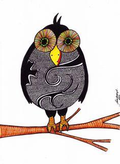 Coruja por Julia Guedes #ilustra #drawing