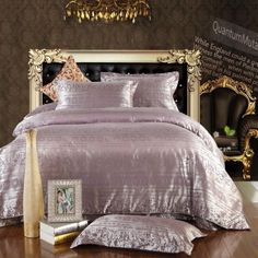 Love In Moscow Purple Jacquard Damask Luxury Bedding Damask Bedding, Luxury Bedding, Bedding Sets, Purple Fashion, Duvet Cover Sets, Moscow, Comforters, The Originals, Modern