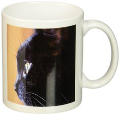 3dRose Extreme Close-Up of Black Cat Mug, 11-Ounce *** Special cat product just for you. See it now! : Cat mug