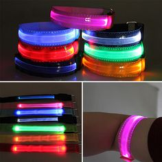 Running Arm Warmers Practical Night Running Led Arm Band Warmer Belt Reflective Belt Night Run Armband For Outdoor Sport Arm Strap Luminous Wristband Baseball A Wide Selection Of Colours And Designs