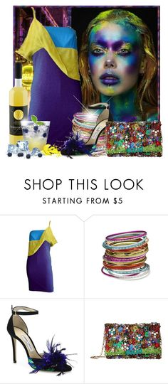 """Limoncello"" by doozer ❤ liked on Polyvore featuring Versace, Jimmy Choo and Oscar de la Renta"