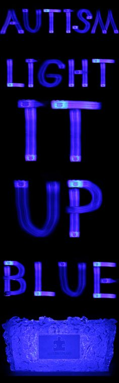 Light It Up Blue for Autism Awareness Month.  Our product was created to honor our son's struggle & to Light It Up Blue!    Please support Light it up Blue this April.    #LightItUpBlue