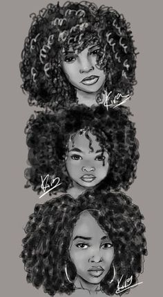 Afro Hair Drawing At PaintingValleycom Explore Collection Of Afro - afro hairstyles drawing hairstyles drawing girl Natural Hair Art, Pelo Natural, Natural Hair Styles, Black Girl Art, Black Women Art, Art Girl, African American Art, African Art, Arte Black