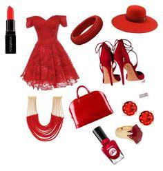 """Red Fire"" by cupcakegirl4567821 on Polyvore featuring Aquazzura, Louis Vuitton, Rosantica, Lola Rose, The Season Hats, Smashbox and Sally Hansen"