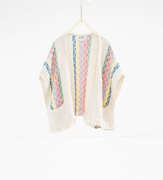 Discover the new ZARA collection online. Zara Kids, Poncho Tops, Poncho Sweater, Fashion Kids, Pullover, Kind Mode, Kids Wear, Pulls, Baby Dress