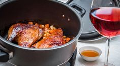 Duck in Honey using Remoska Cooking Equipment, Butter Chicken, Slow Cooker, Dishes, Baking, Recipes, Electric, Honey, Party