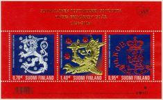 Finland - F BL Finska frimärket 150 år. Finland, Block, Stamps, Pandora, Seals, Postage Stamps, Stamp