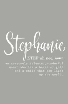 """Personalized """"Stephanie"""" Journal for Women - Blank Journal Notebook - Stephanie Name Gifts  - Best Friend Gifts - Gifts for Women - Journaling"""