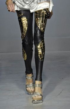 """Balenciaga """"robot"""" leggings... oh no big deal. Made to order only and around $100,000. DO WANT."""