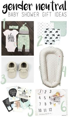 The best gender neutral baby shower gift ideas! So cute! gender neutral, gender neutral gift, gigi and max
