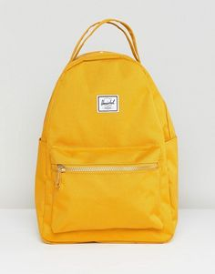 Buy Herschel Nova Mini Mustard Backpack at ASOS. Get the latest trends with ASOS now. Mochila Herschel, Herschel Backpack, Herschel Heritage Backpack, Yellow Backpack, Backpack Purse, Mini Backpack, Laptop Backpack, It Bag, Asos