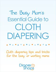Busy Mom's Guide to Cloth Diapering. Since when the baby comes (whenever I get pregnant for that matter), I am, hopefully going to still be working and (eventually) going back to school.
