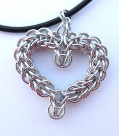 Chain Mail Heart Necklace | JustForYouJewelleryCreations - Jewelry on ArtFire