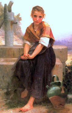 La cruche cassée-William Adolphe Bouguereau (1825 – 1905, French)