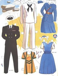 VICTORY-PAPER-DOLLS-ORIGINAL-UNCUT-BOOK-FROM-1943